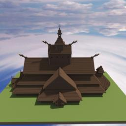 Viking Stave Church Temple 10th Century Minecraft Map & Project