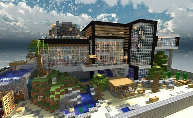 Image gallery modern minecraft house map for Minecraft modern house 9minecraft