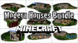 Modern Houses Bundle, 10 Houses Minecraft Map & Project