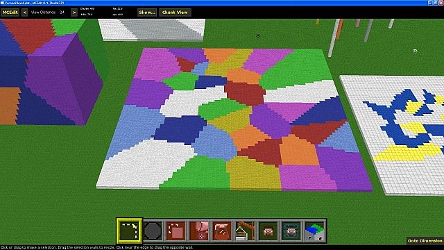 Voronoi Mcedit Filter To Make Cells Of Blocks For Floors