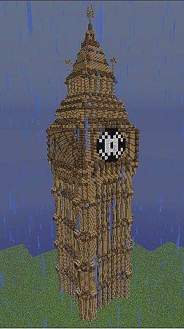Big Ben 3d Model Minecraft Project
