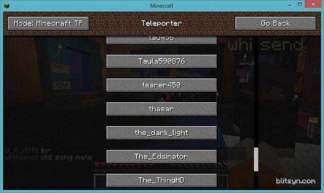 Teleporter Minecraft Mod - Minecraft player teleport mod