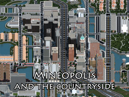 Mineopolis and the Countryside | Huge Realistic Modern City with surroundings | AIRPORT IMPROVEMENTS UPDATE Minecraft Map & Project