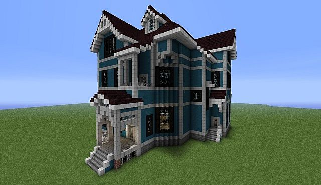Huge houses in minecraft the image kid for Pics of big houses