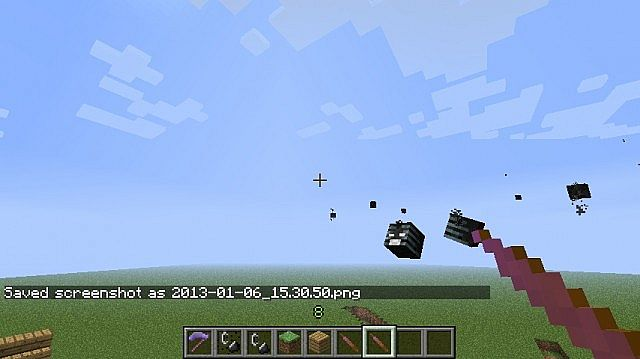 The Wither Skull Wand In Action
