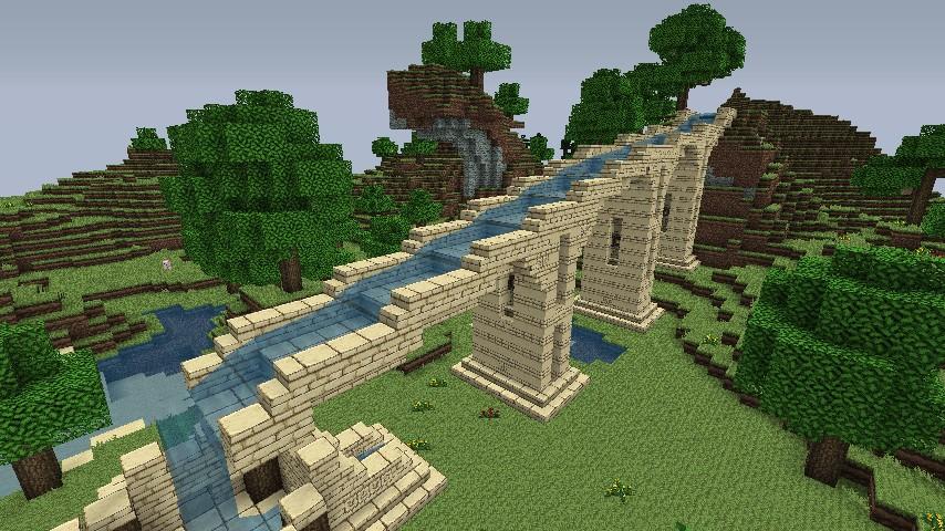 Roman Aqueduct Minecraft Project