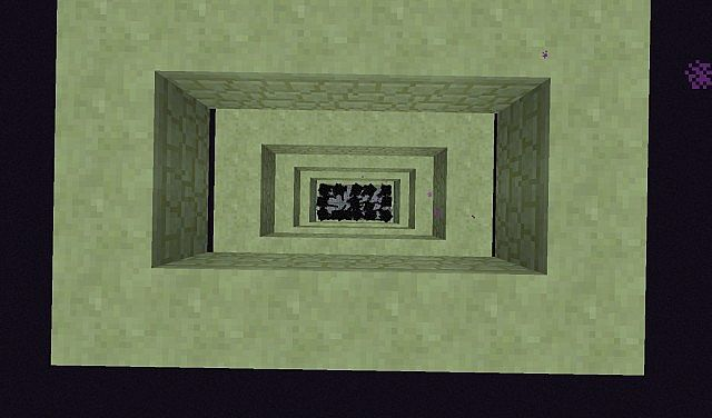 Looking down at the endermans