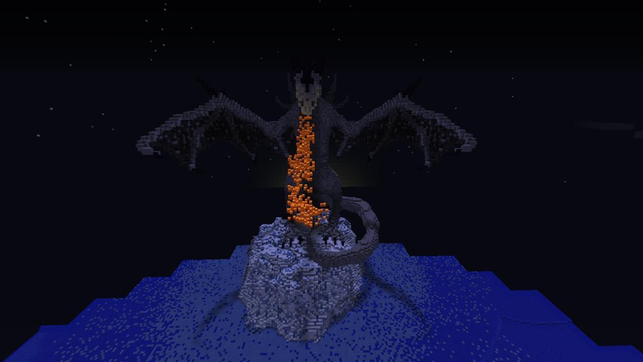 карты майнкрафт с драконом #7