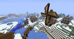 Small Snowy Town Minecraft