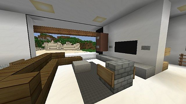 Modern the beach house minecraft project for Modern living room minecraft