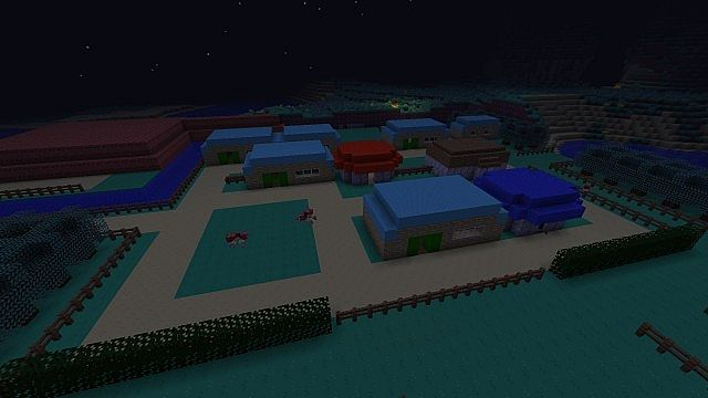 Cerulean City at night