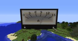 First ever Amperemeter in Minecraft. Minecraft Map & Project