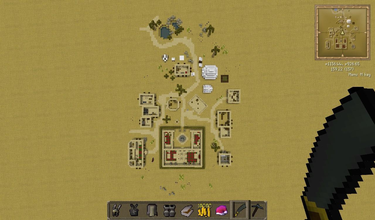 Al-Kharid Perfect Scale Map!! Runescape Minecraft Project