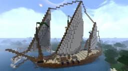 Xebec Style Ship -- The Constance Minecraft Map & Project