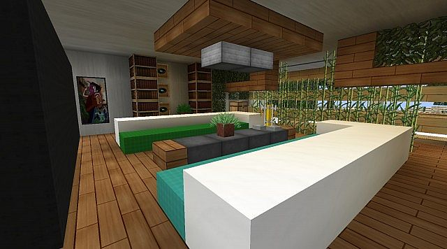 Modern the sun residence luxury villa minecraft project - How to make a nice living room in minecraft ...
