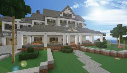 Modern White Beach House Minecraft Map & Project