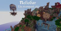 Neliodar - The Waterfall Steam-Punk City Minecraft Project