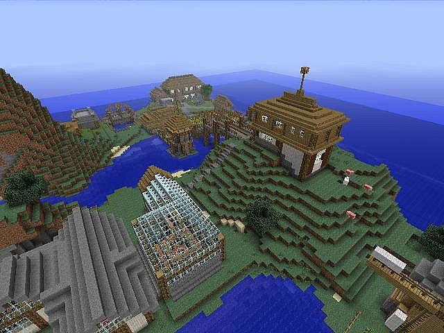Minecraft XBOX 360 World [Villages, Towns, Rails, Ships ...