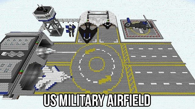 Us Military Airfield  C U0026c Generals  Minecraft Project