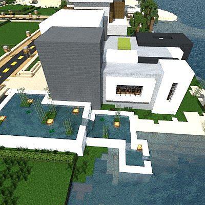 Light modern beach house minecraft project for Beach house designs minecraft