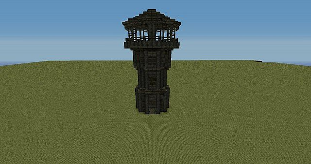 Large Wooden Watchtower Minecraft Project