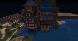 Watermill with wheatfarm Minecraft Map & Project
