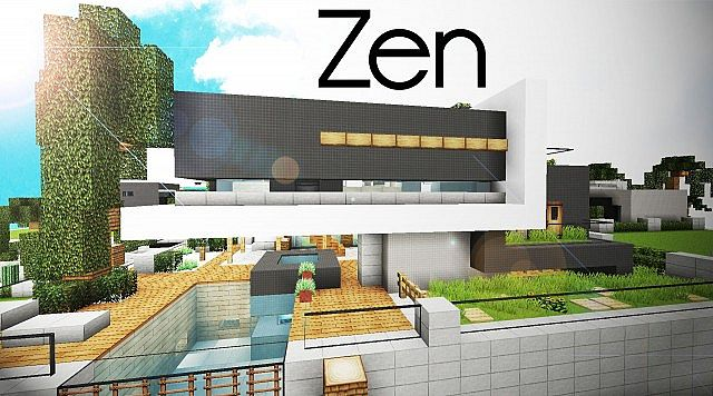 Minecraft Japanese Rock Garden zen house - pueblosinfronteras