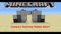 Simple Compact Redstone Hidden Door! Minecraft
