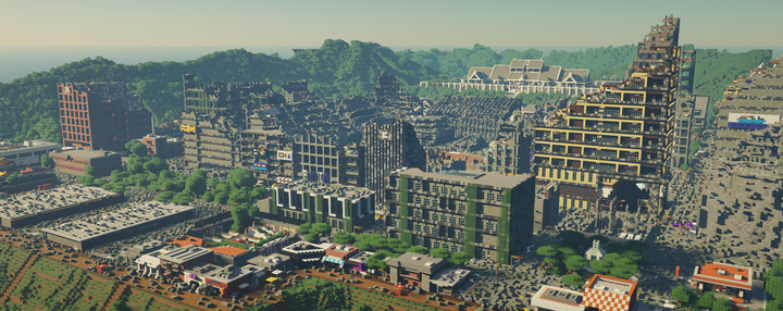 """A view of the nuked 3rd city, """"Atlas"""""""