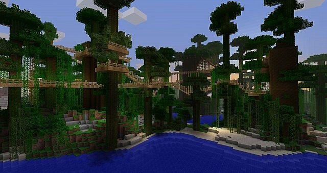 Jungle Treetop Village Minecraft Project