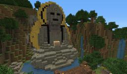 Buddha in the Forest and Small Asian Temple Minecraft Map & Project
