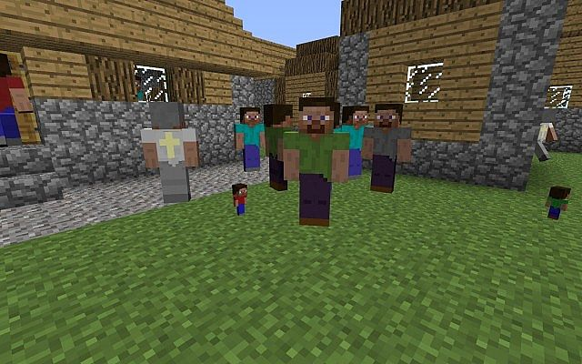 Steve villagers 17a for minecraft 151 replaces testificates a bunch i spawned sciox Images