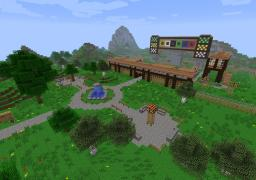 The Zombie Race Track (Working and powered by Redstone) Minecraft Map & Project
