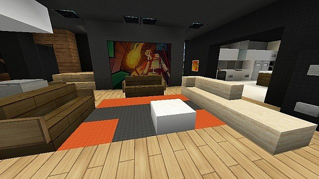Modern sunnyside house minecraft project for Living room ideas in minecraft