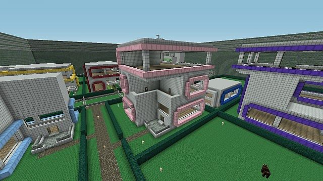 how to make a pink house in minecraft