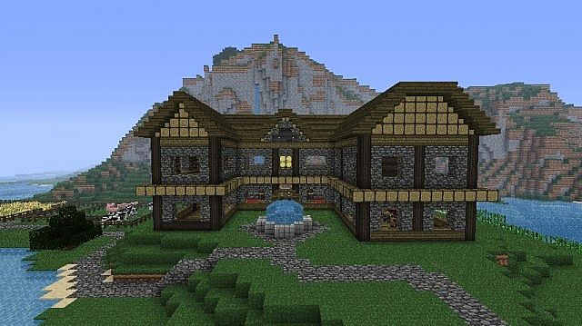 minecraft oak house designs html with Minecraft Survival House 1872393 on Brick Apartment Building as well Category Archive For besides House Of Blueprints in addition Corner Fireplace With Tv Above also Antique Oak Dining Room Chairs.