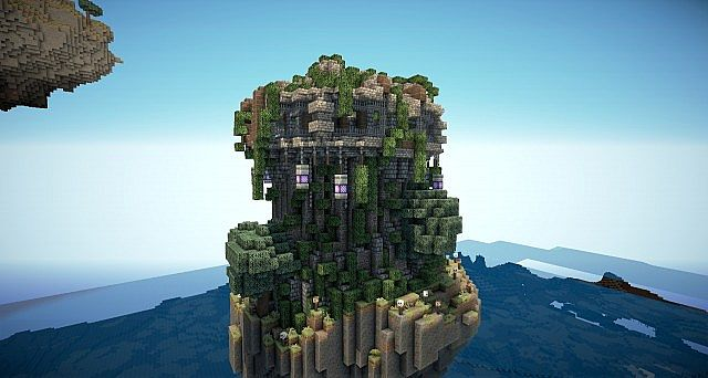 Fantasy Islands With Abandoned Castle And Steampunk