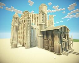 Huge Sandstone Temple (updated) Minecraft Map & Project