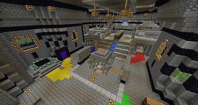 Inside spawn building