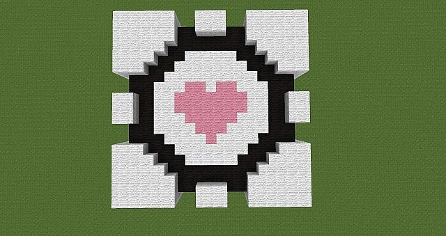 Portal Companion Cube top view