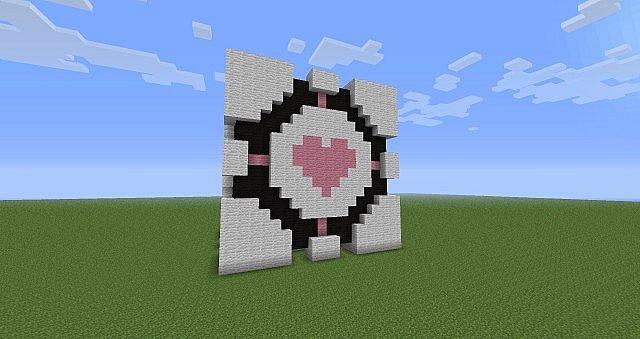 Portal Companion Cube side view