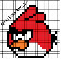 Angry Birds Pixel Art! Minecraft Blog Post