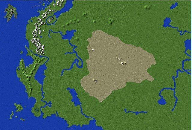 Landmass alone.