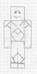 My Minecraft 'Steve' Drawing Minecraft Blog Post