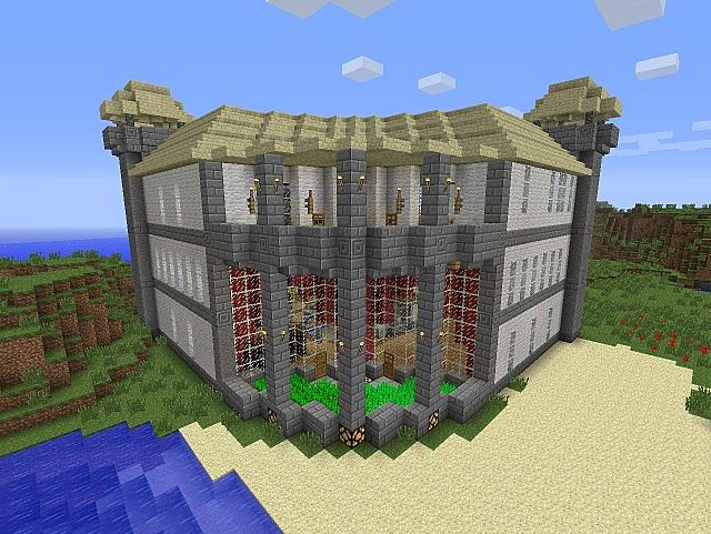 Mansion With Light And Fountain On Off Switches