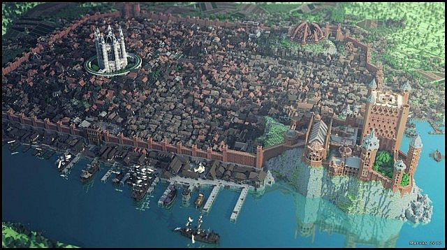 Kings Landing - a city with over 3000 unique buildings!
