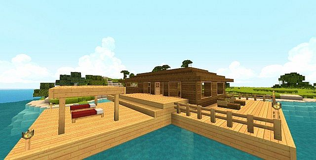 Tropical Beach House Getaway Minecraft Project