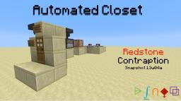 Automated Closet - Redstone {Snapshot 13w05b} Minecraft Project