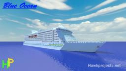 Blue ocean cruise ship Minecraft Map & Project