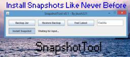 Snapshot Tool - Extremely Easy Snapshot Installation - Automatically find the latest snapshot! Minecraft Mod